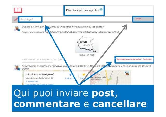 Qui puoi inviare post, commentare e cancellare