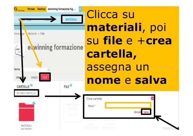 Clicca su materiali, poi su file e +crea cartella, assegna unassegna un nome e salva
