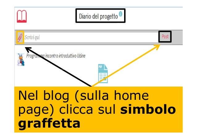 Nel blog (sulla home page) clicca sul simbolo graffetta