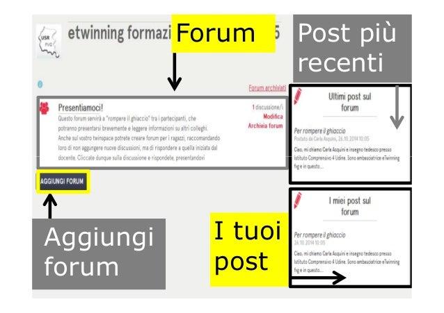Forum Post più recenti I tuoi post Aggiungi forum