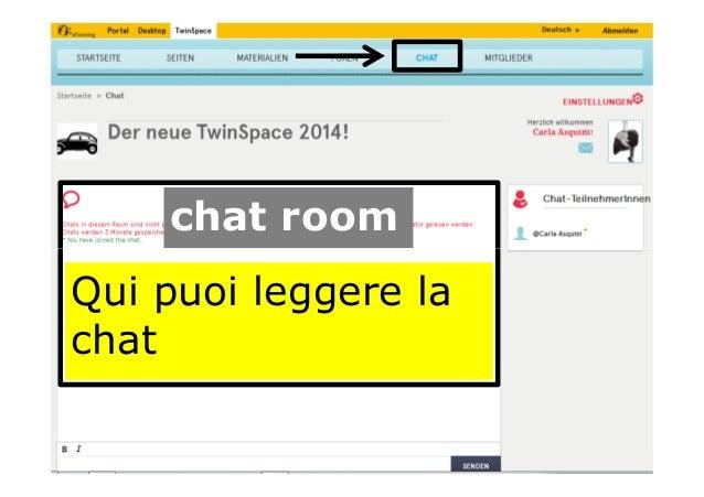 chat room Qui puoi leggere la chat