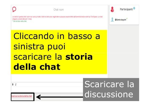 Cliccando in basso a sinistra puoi scaricare la storiascaricare la storia della chat Scaricare la discussione