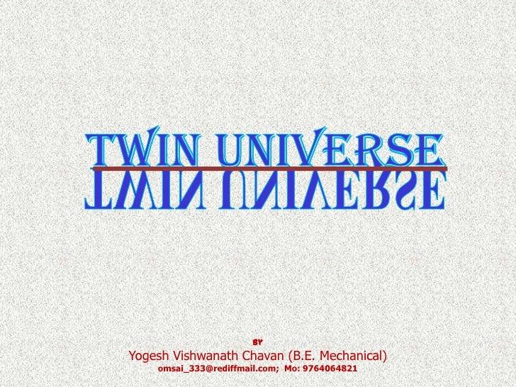 ByYogesh Vishwanath Chavan (B.E. Mechanical)    omsai_333@rediffmail.com; Mo: 9764064821