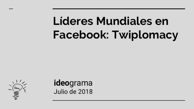 Líderes Mundiales en Facebook: Twiplomacy ideograma Julio de 2018