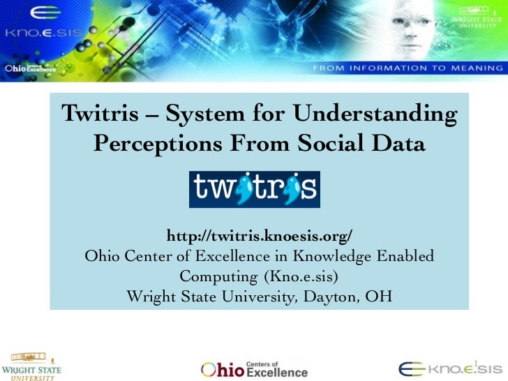 Twitris – System for Understanding  Perceptions From Social Data                                                       ...