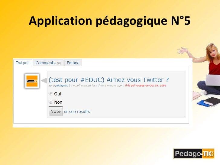 Application pédagogique N°5<br />