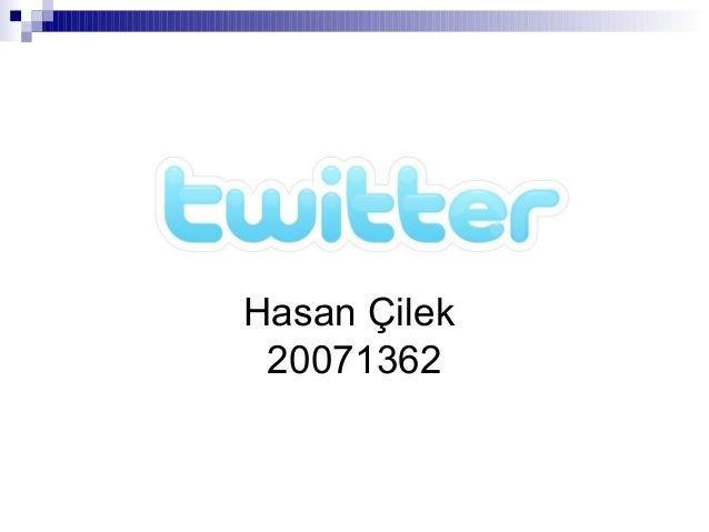 Hasan Çilek 20071362