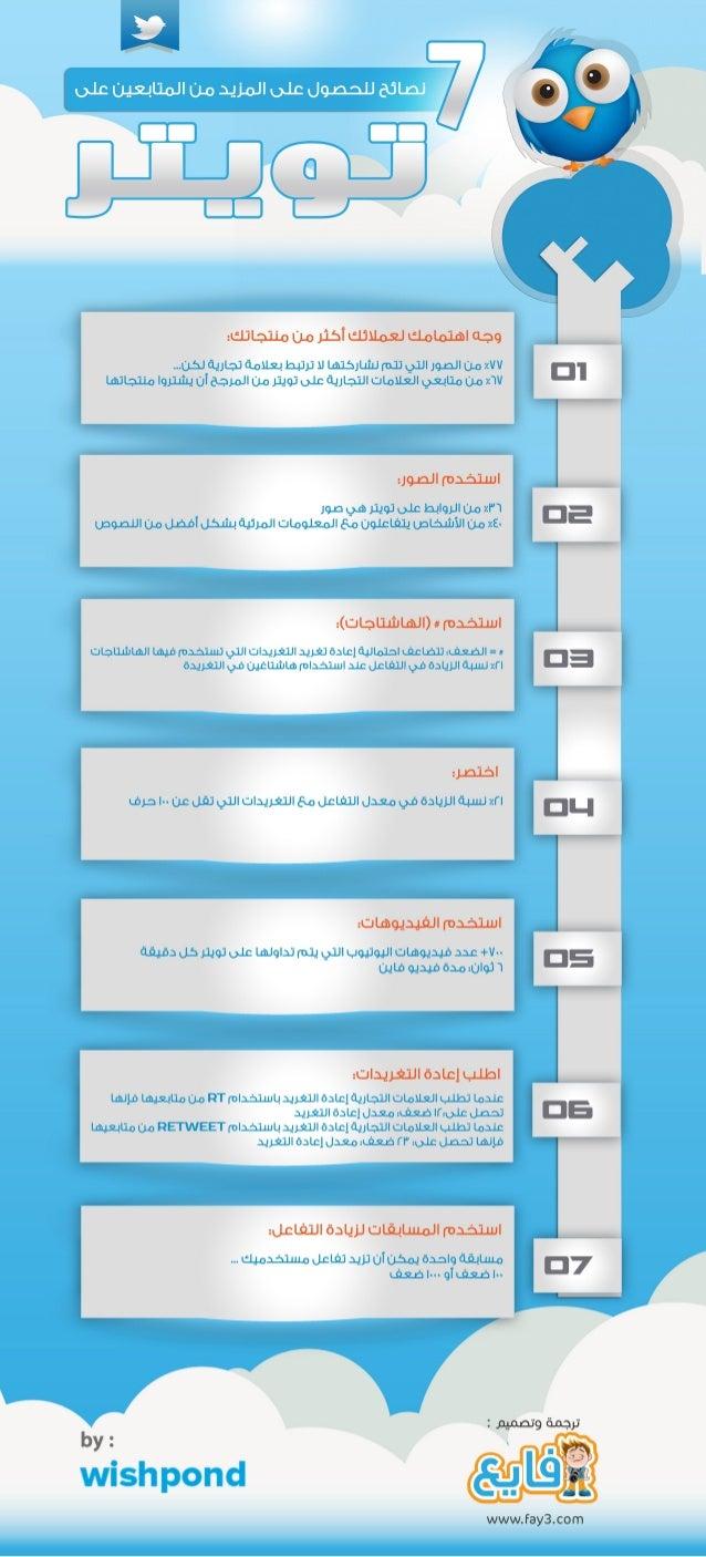 سبعة نصائح للحصول على المزيد من المتابعين على تويتر #انفوجرافيك