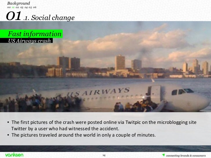 01  . 1. Social change Fast information Background 00   01   02  03  04  05  06 US Airways crash ▪  The first pictures of ...