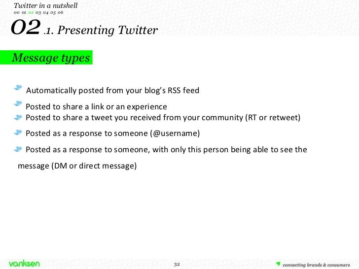 02  . 1. Presenting Twitter Twitter in a nutshell 00  01  02   03  04  05  06 Automatically posted from your blog's RSS fe...