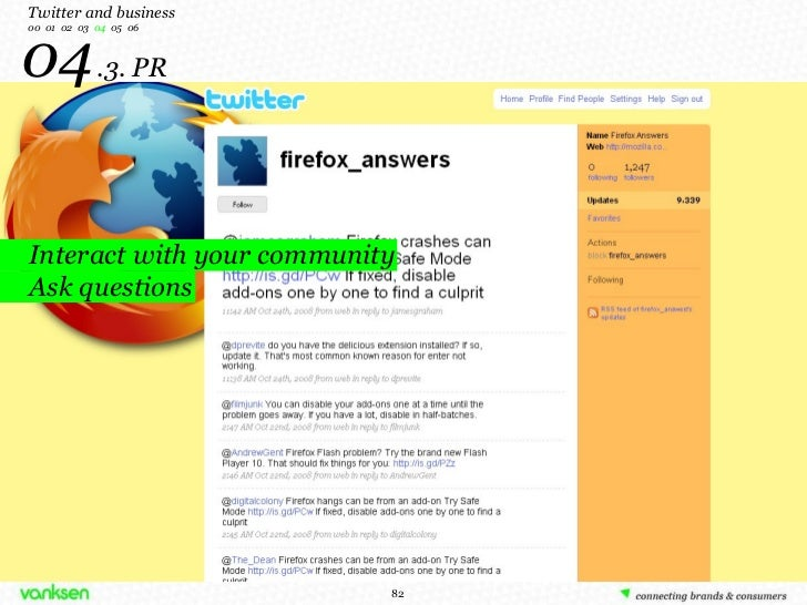 04   .3. PR Twitter and business 00  01  02  03  04   05  06 Interact with your community Ask questions