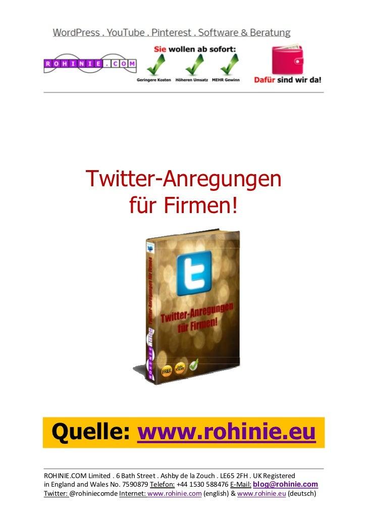 Twitter-Anregung...