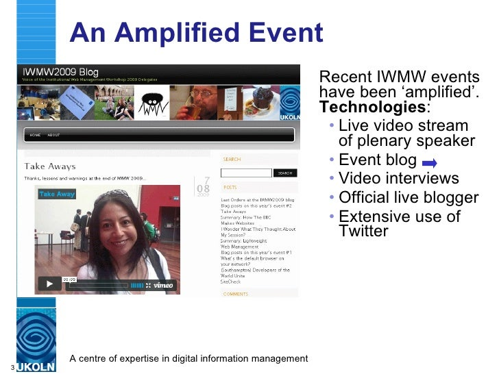 Linking Feral Event Data: IWMW 2009 Case Study Slide 3