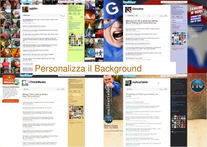 Personalizza il Background
