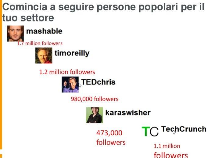 Comincia a seguire persone popolari per iltuo settore   1.7 million followers             1.2 million followers           ...