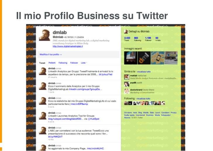 Il mio Profilo Business su Twitter