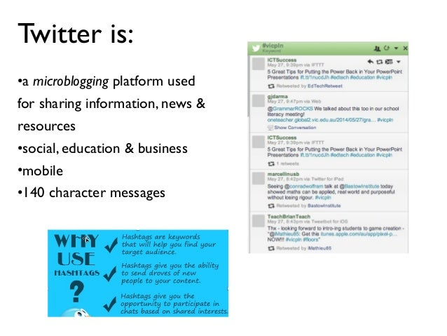 Twitter for Educators: A basic introduction Slide 3
