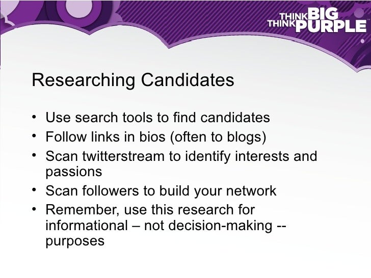 Twitter for Recruiters