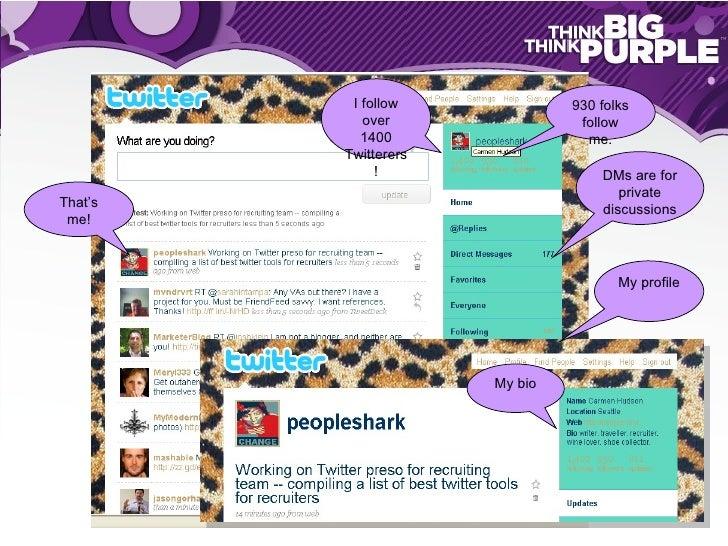 Twitter for Recruiters Slide 3