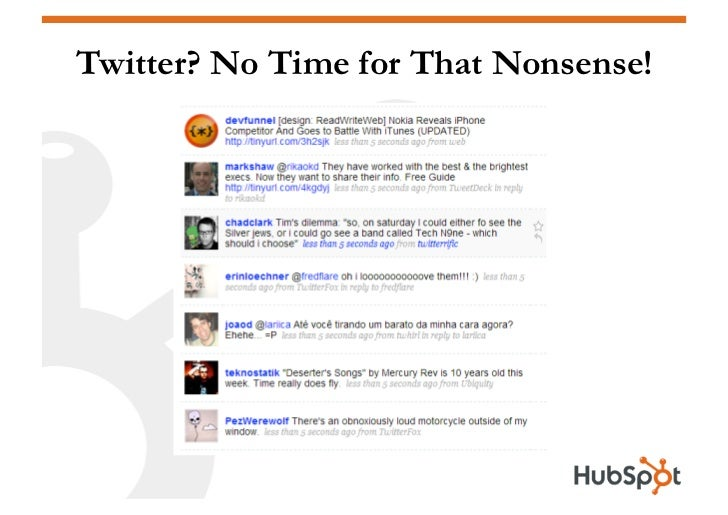 Twitter? No Time for That Nonsense!