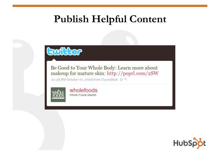 Publish Helpful Content