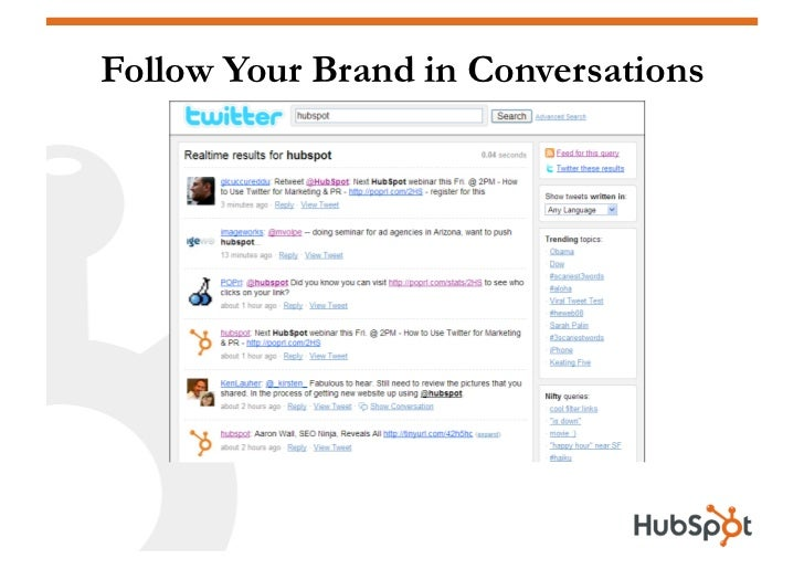 Follow Your Brand in Conversations