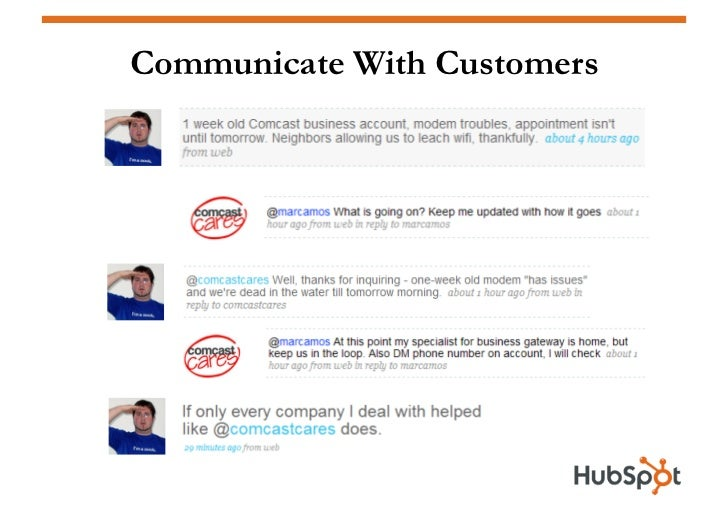 Communicate With Customers