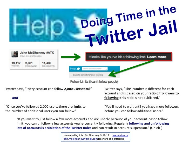 "Twitter says, ""Every account can follow 2,000 users total.""          Twitter says, ""This number is different for each     ..."