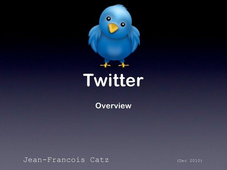 Twitter               OverviewJean-Francois Catz        (Dec 2010)
