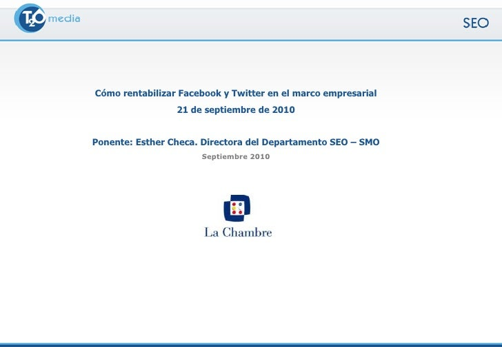 Twitter Para Pymes - T2O media - Septiembre 2010 Slide 2