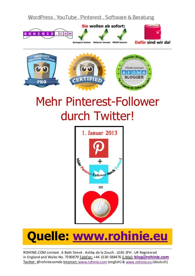 Mehr Pinterest-Followe...
