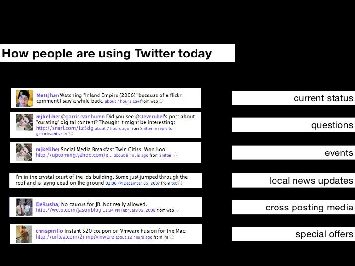 How will people use Twitter tomorrow?                                                      API driven RIA                 ...