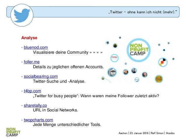 """""""Twitter – ohne kann ich nicht (mehr)."""" Analyse - bluenod.com Visualisiere deine Community » » » » - foller.me Details zu ..."""