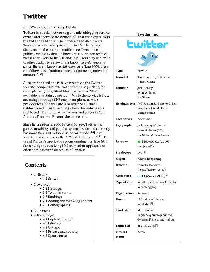 Twitter wikipedia