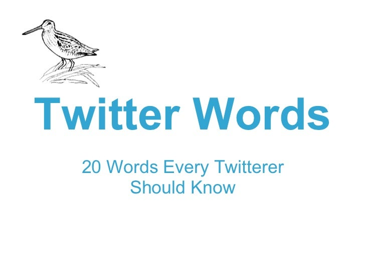Twitter Words 20 Words Every Twitterer Should Know