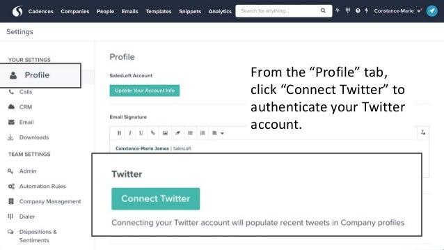SalesLoft Twitter Smart Panel