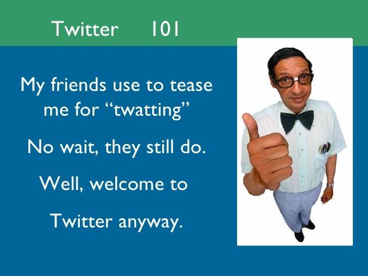 Setting up your Twitter account:  A quick and dirty 101