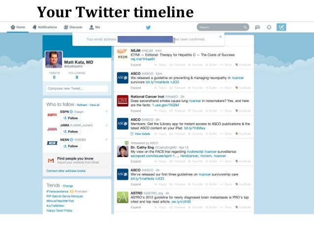 Twitter 101 Signing up: A Tutorial for Oncologists