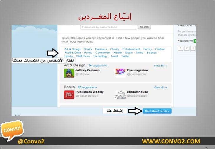 ٓ٠ئرــِّجبع اٌّغـــشد@Convo2                           WWW.CONVO2.COM                                                   6