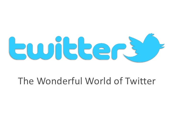 The Wonderful World of Twitter<br />