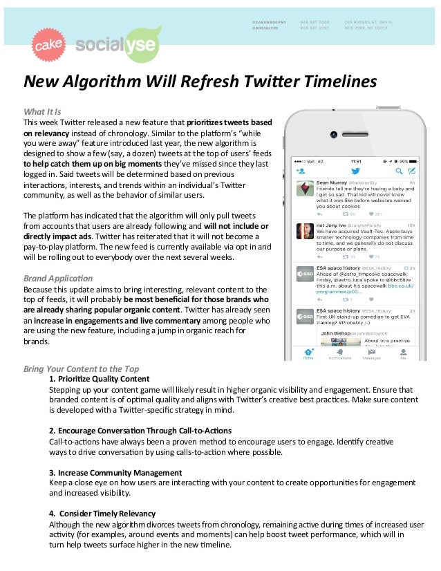 New	   Algorithm	   Will	   Refresh	   Twi3er	   Timelines	   	    	   What	   It	   Is	   	    This	   week	   Twi)er	   ...