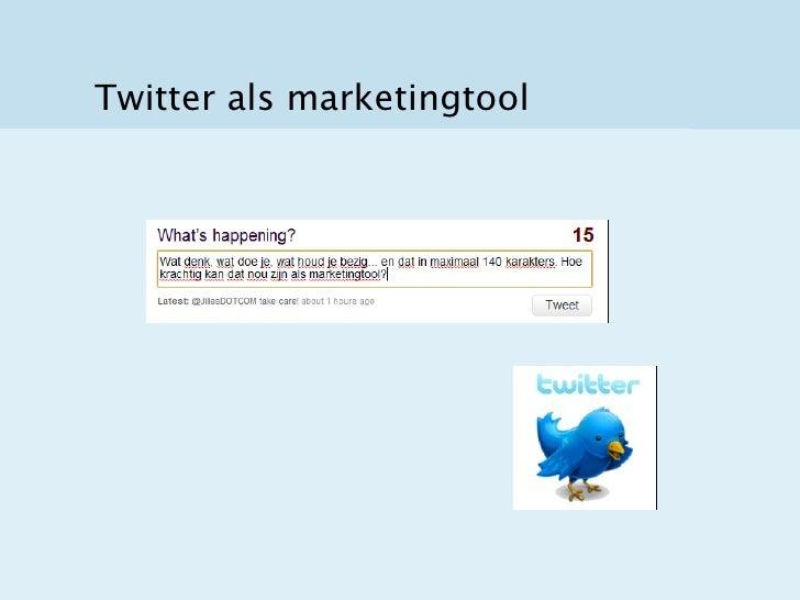 Twitter als marketingtool