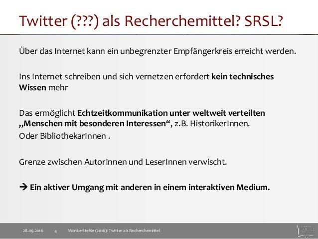 Twitter als Recherchemittel Slide 4