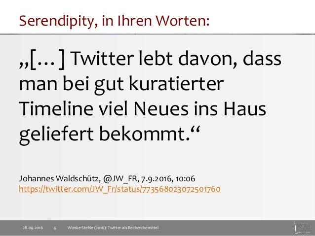 Twitter als Recherchemittel Slide 6