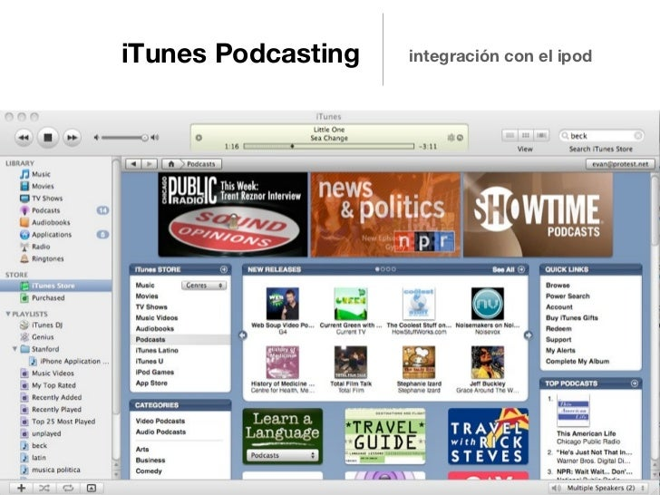 iTunes Podcasting   integración con el ipod                                 Source: http://flic.kr/p/H9zi