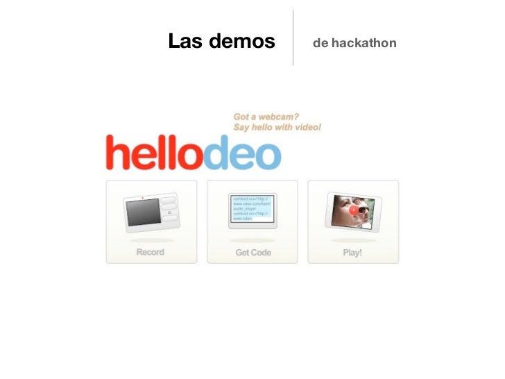 Las demos   de hackathon
