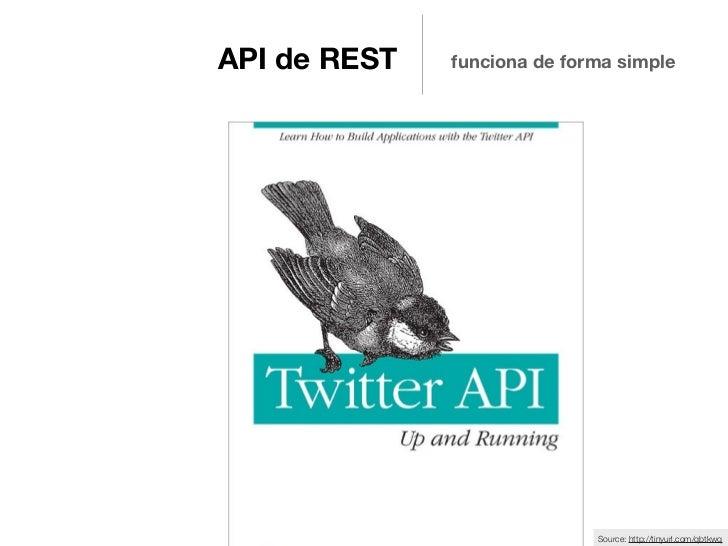 API de REST   funciona de forma simple                             Source: http://tinyurl.com/qbtkwq