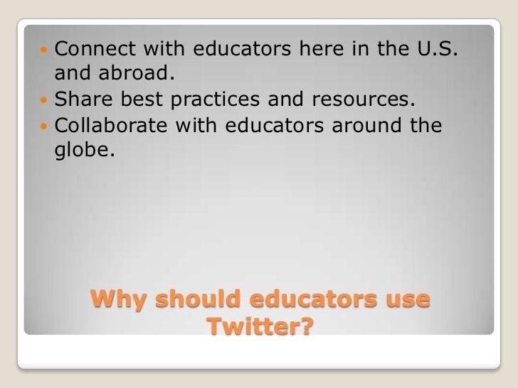 Twitter as a professional development tool Slide 3