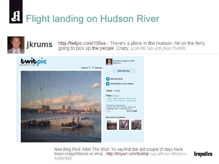 Flight landing on Hudson River