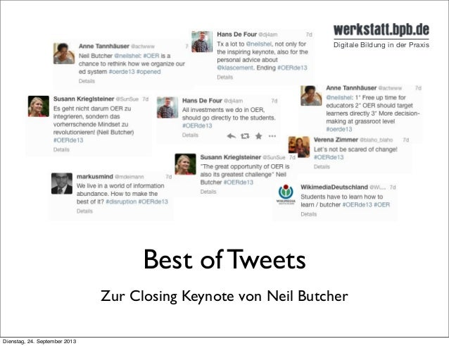 Best of Tweets Zur Closing Keynote von Neil Butcher Dienstag, 24. September 2013
